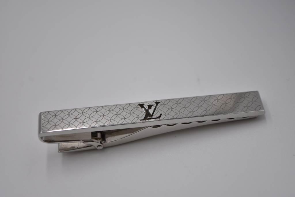 中古 Louis チープ Vuitton ルイ ヴィトン 直営ストア タイクリップ 04r3272 シャンゼリゼ パンス シルバー M65042 クラヴァット