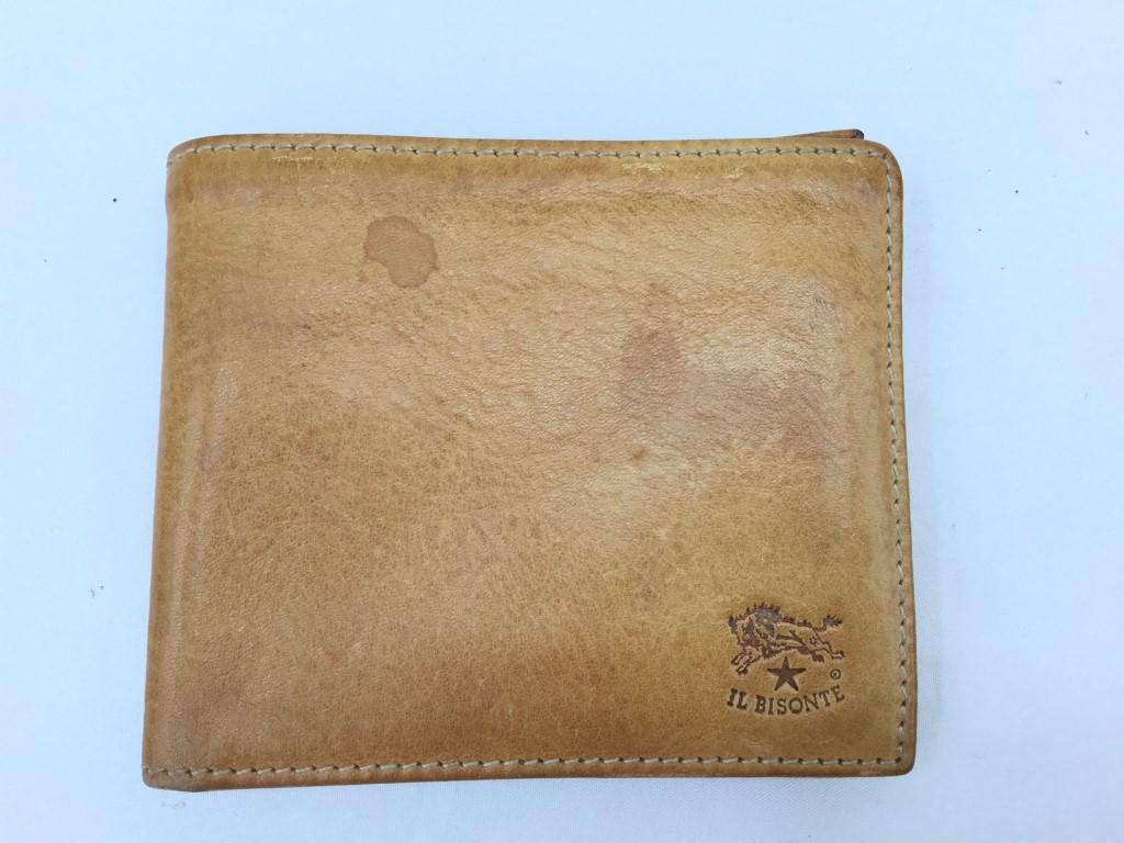 【中古】IL BISONTE イルビゾンテ 二つ折り財布 03r0044