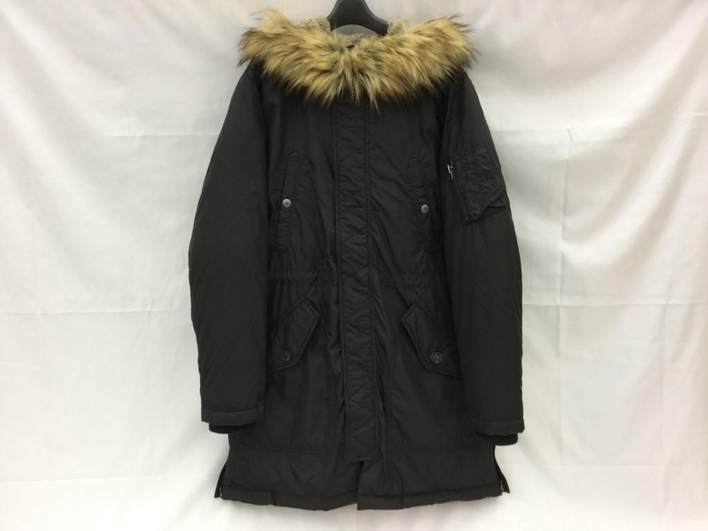 【中古】DIESEL ディーゼル 中綿コート N3-B 黒 ブラック サイズXL 03r0259
