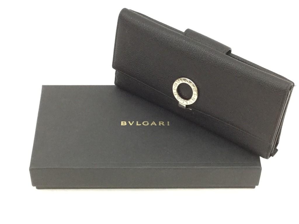 【中古】BVLGARI ブルガリ  Wホック 長財布 BLACK ブラック 黒 20366783 03r0308