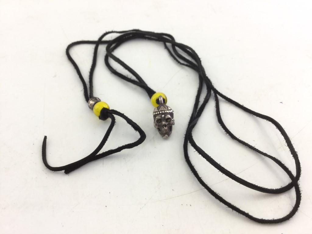 【中古】COOTIE クーティ Magical Design マジカルデザイン Tibetan Monk Skull Necklace チベタンモンクスカルネックレス シルバー 03r0868