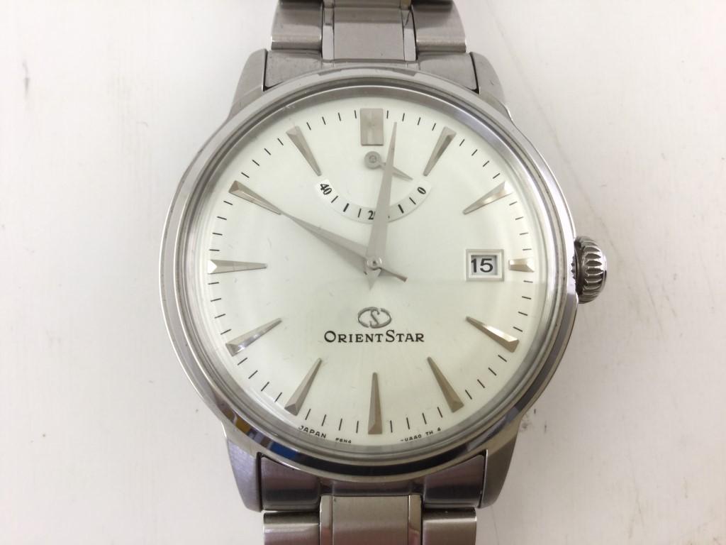 【中古】ORIENT STAR オリエントスター 腕時計 自動巻き F6N4-UA AOB7T0027 シルバー