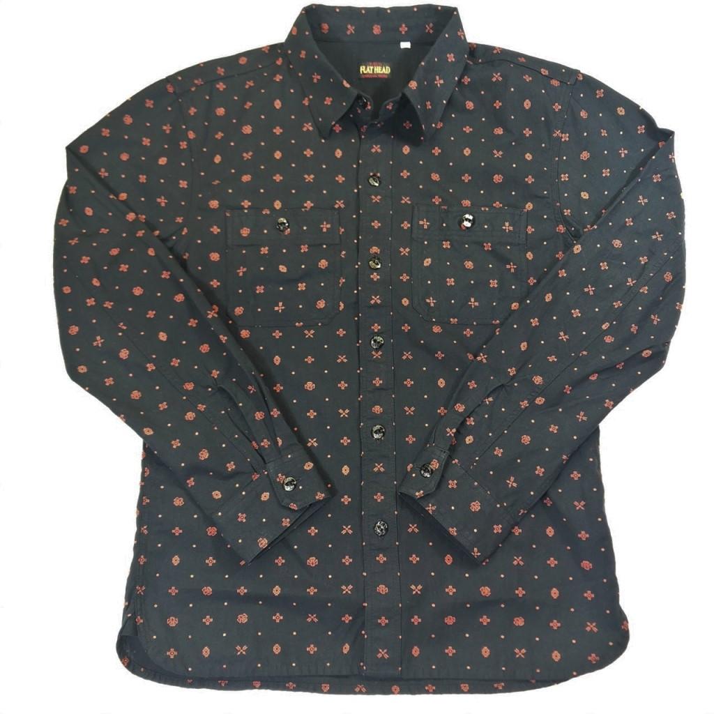 【中古】FLAT HEAD フラットヘッド NATNE PRINT SHIRT シャツ サイズ:40 01r0086 中古品