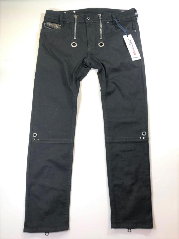 【中古】DIESEL ディーゼル Jogg Jeans ジョグジーンズ 黒 サイズ34 タグ付き スカルリベット 01r0089 中古品