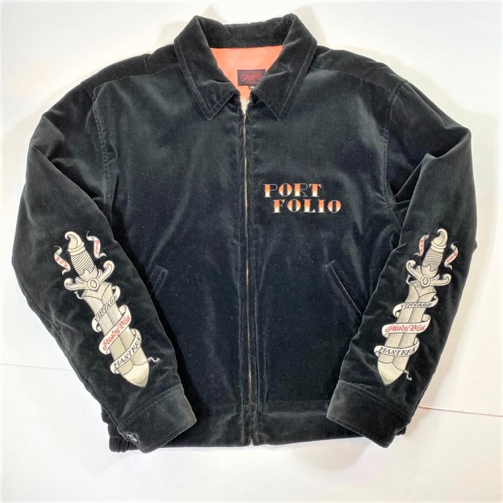 【中古】R.J.B 別珍 ベッチン スーベニア ジャケット ダガー ブラック サイズ:38 01r0104 中古品