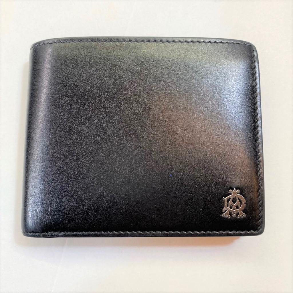 【中古」dunhill ダンヒル 二つ折り財布 黒 メンズ 01r0113 中古品