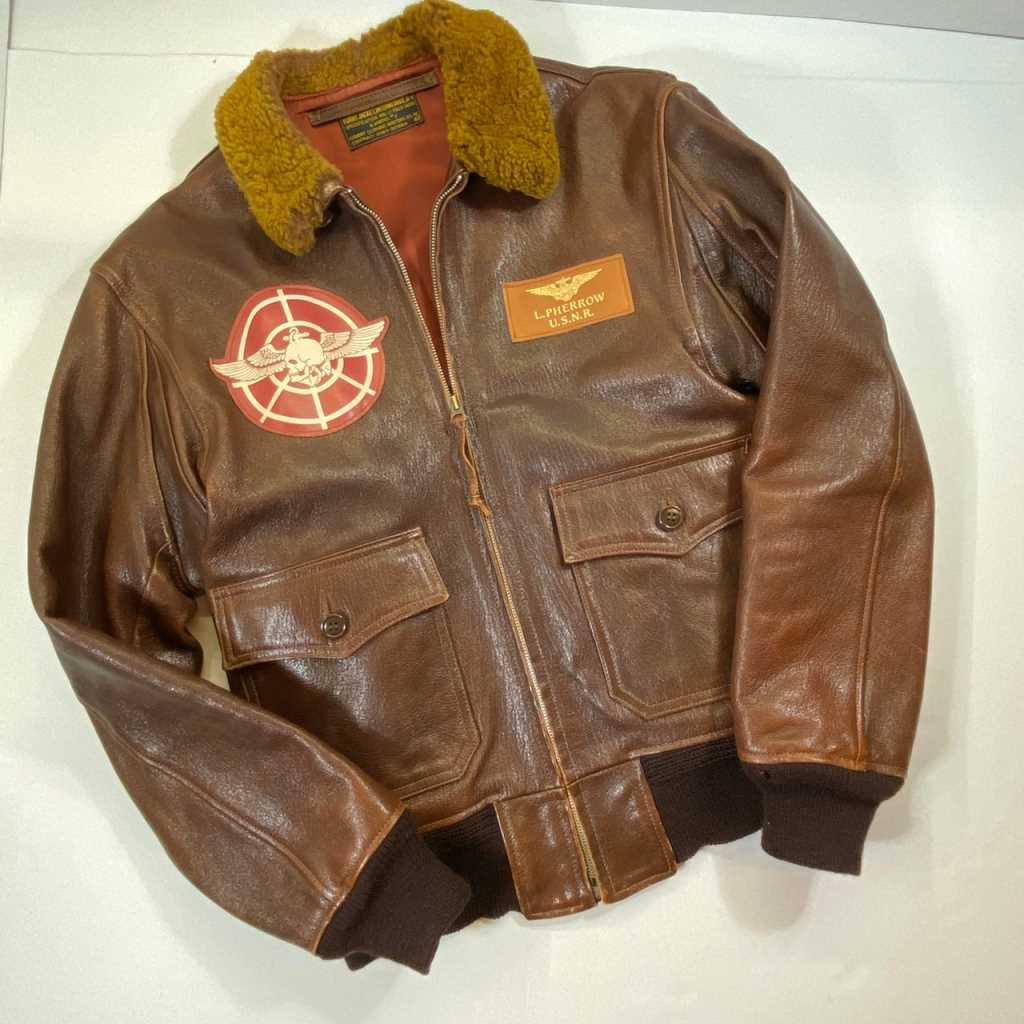 【中古】Pherrow's (フェローズ) G-1レザーフライトジャケット 中古品 01r0149