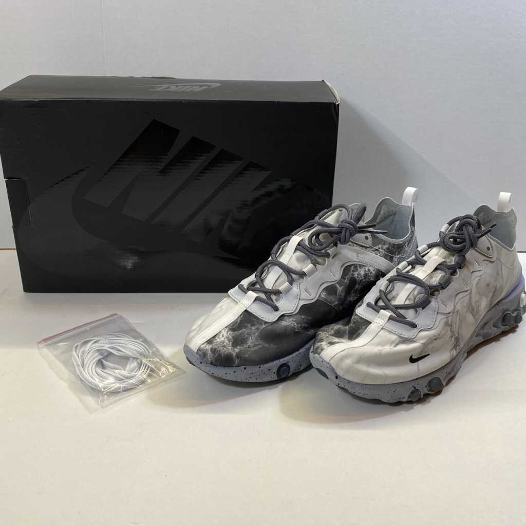 【中古】NIKE REACT ELEMENT 55/KL 白 CJ3312-001 中古品 01r172