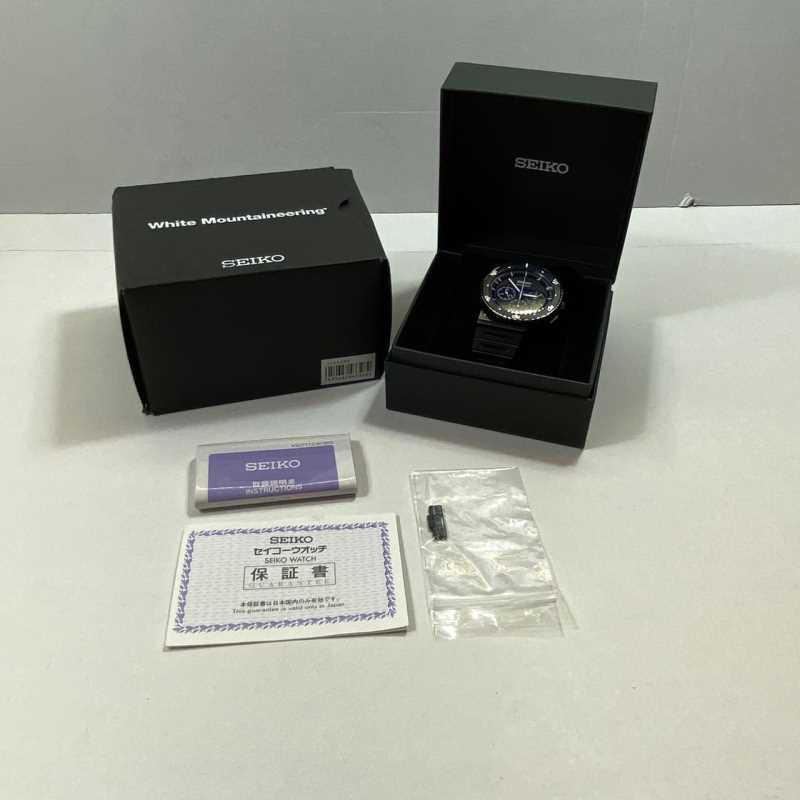 【中古】SEIKO セイコー 7T12-OBEO スピリット ジウジアーロ クオーツ 黒 ブラック メンズ 腕時計 700本限定中古品 01r0507