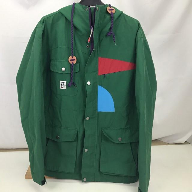 送料無料激安祭 安全 中古 CHUMS チャムス マウンテンパーカー 緑 GREEN CH04-0650 グリーン サイズL 01r2085 ジャケット 中古品