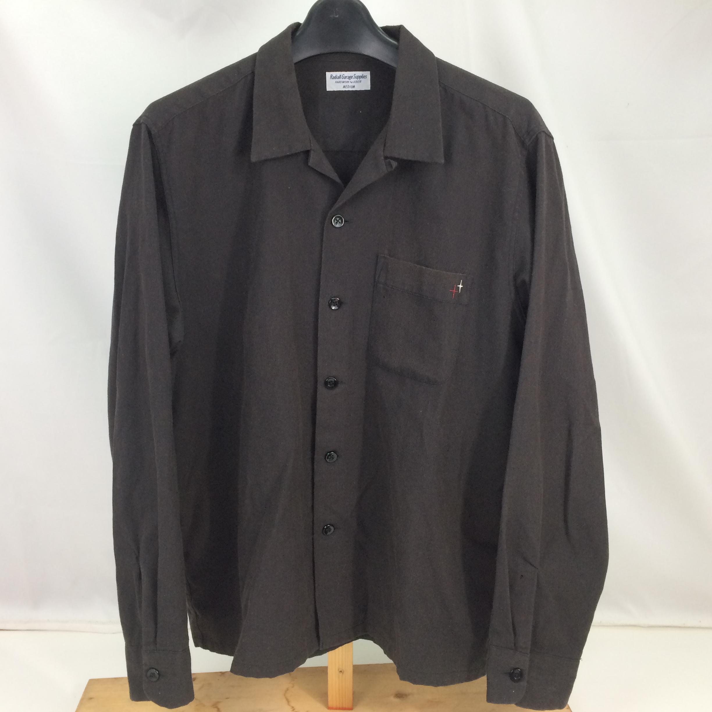 中古 RADIALL ラディアル OXFORD OPEN SHIRT 開襟シャツ 安値 長袖シャツ 限定品 RAD-15SS-SH011 ブラック トップス 01r2588 中古品 サイズM メンズ BLACK 黒