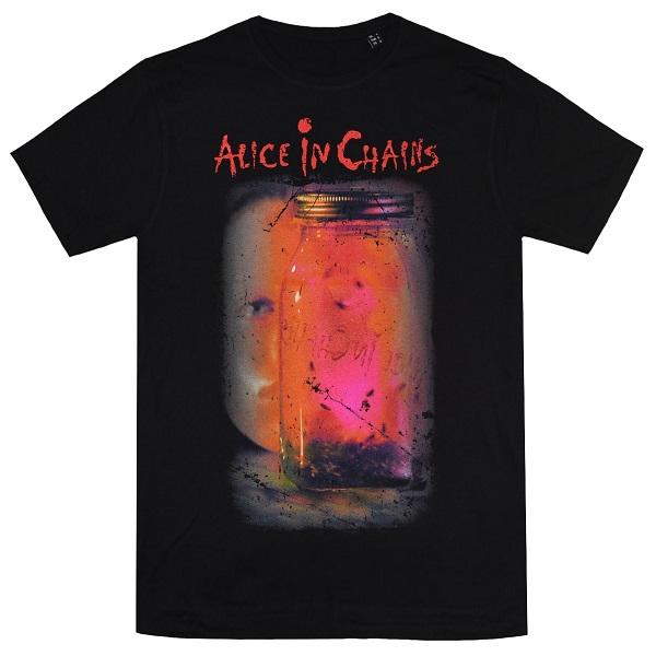 メール便なら送料無料 アリス イン チェインズのオフィシャルマーチャンダイズ ALICE IN Jar Tシャツ 注文後の変更キャンセル返品 CHAINS アリスインチェインズ Of お洒落 Flies
