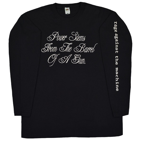 卓出 メール便なら送料無料 レイジ アゲインスト ザ マシーンのオフィシャルマーチャンダイズ RAGE AGAINST Stems THE Power MACHINE レイジアゲインストザマシーン Tシャツ 限定モデル ロングスリーブ