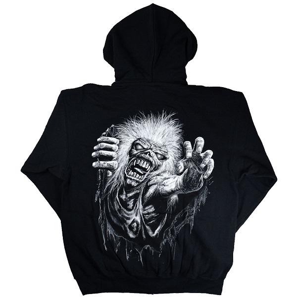 No Prayer Official Men/'s Black Zipped Hoodie Iron Maiden