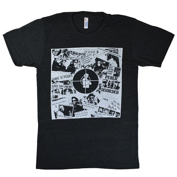 パブリック エナミー 送料無料 バンドTシャツ ロックTシャツ メール便送料無料 PUBLIC ENEMY Black 評価 Steel DARK 新品未使用 The オフィシャル In Hour Of Tシャツ GREY Chaos