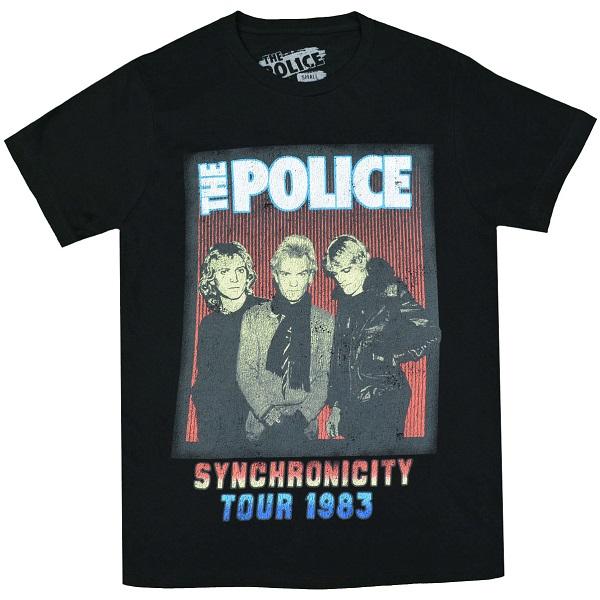 メール便なら送料無料 ポリスのオフィシャルマーチャンダイズ THE POLICE Tシャツ Tour ポリス 安値 数量限定 1983