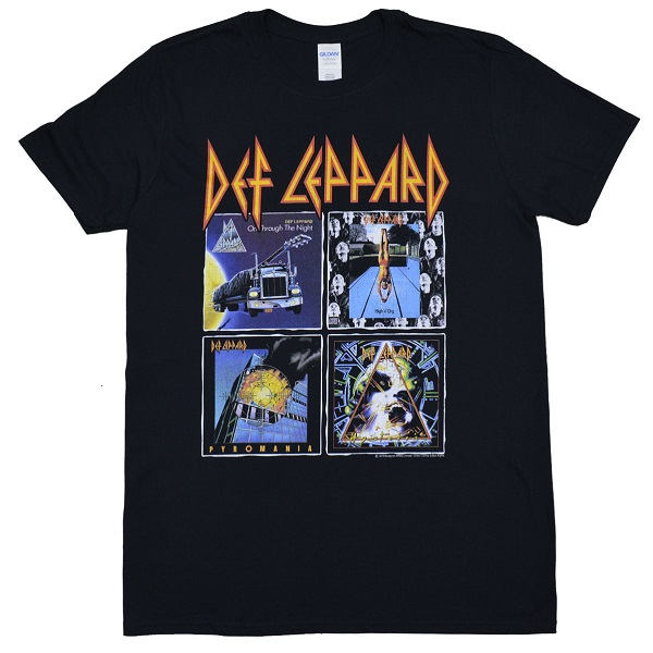 メール便なら送料無料 デフ レパードのオフィシャルマーチャンダイズ DEF LEPPARD Tシャツ 80s Albums デフレパード お見舞い 毎週更新