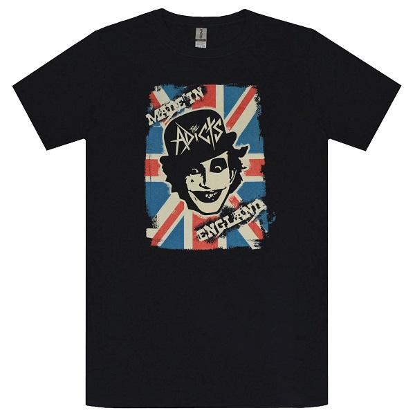 メール便なら送料無料 流行 ザ アディクツのオフィシャルマーチャンダイズ THE ADICTS In England Tシャツ アディクツ 付与 Made
