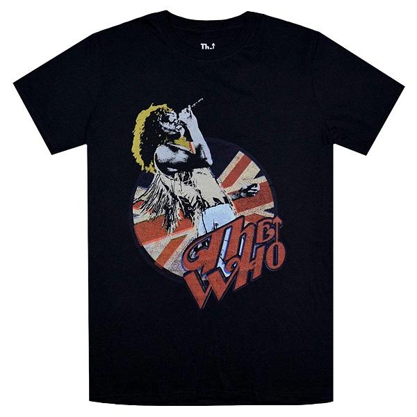 メール便なら送料無料 買取 ザ 超目玉 フーのオフィシャルマーチャンダイズ THE WHO フー Roger Vintage Pose Tシャツ