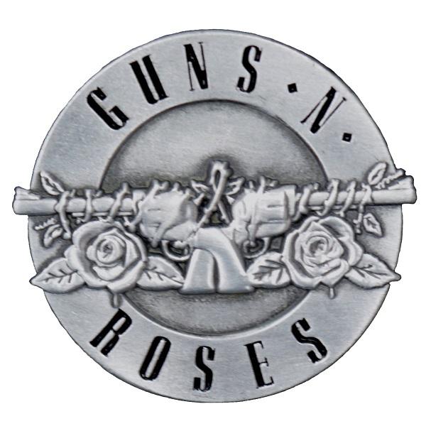 特価 メール便なら送料無料 ガンズ アンド ローゼズのオフィシャルマーチャンダイズ GUNS N' タイムセール ピンバッジ ROSES Bullet ガンズアンドローゼズ Logo