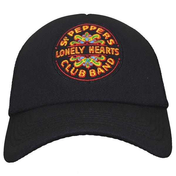 ザ ビートルズのオフィシャルマーチャンダイズ 正規認証品 新規格 THE BEATLES ビートルズ Sgt プレゼント メッシュキャップ Drum Pepper