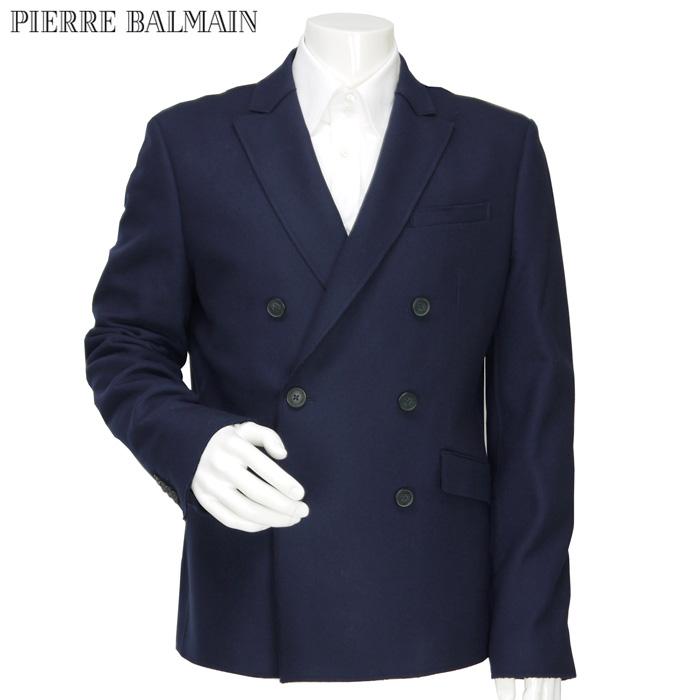 ピエールバルマン PIERRE BALMAIN メンズ ウール ダブル テーラードジャケット サイドベンツ ネイビー 5M2520-74041 サイズ(52)(54)