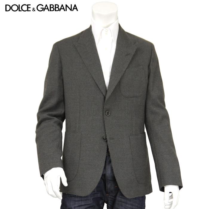 ドルチェ&ガッバーナ DOLCE&GABBANA ドルガバ メンズ テーラードジャケット G2CB1T FU2MD ウール グレー サイズ(46)(52)
