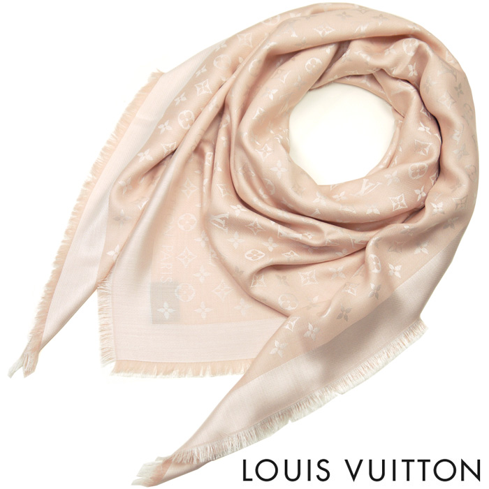 ルイヴィトン LOUIS VUITTON ルイ ヴィトン LV レディース メンズ ストール ショール モノグラム デニム M72046 ローズ(ピンク)