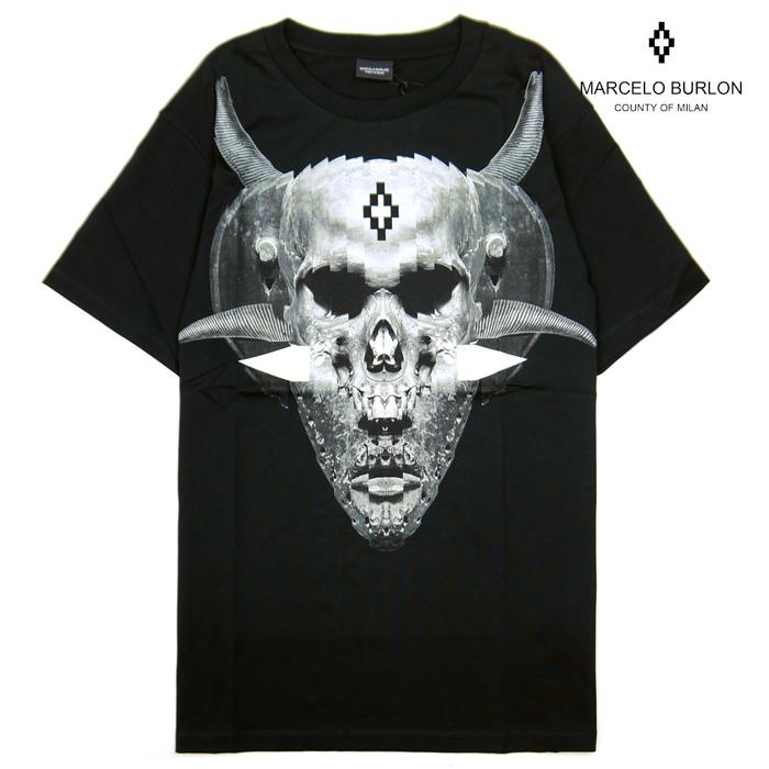 マルセロバーロン Tシャツ 半袖 白 メンズ MARCELO BURLON JAK T-SHIRT CMAA018F170010420110 クルーネック マルセロブロン