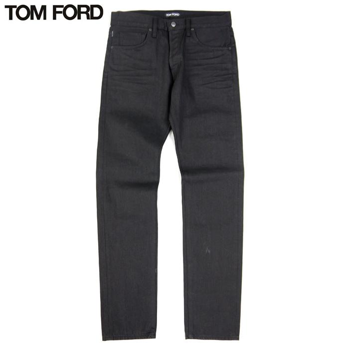 【訳あり】トムフォード TOM FORD デニム レギュラー コットン100% ジーンズ ブラック 黒 サイズ32 ボタンフライ