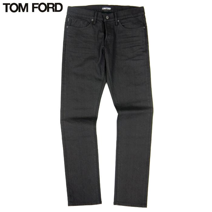 トムフォード TOM FORD デニム スリム コットン100% ジーンズ ブラック 黒 サイズ33 ボタンフライ