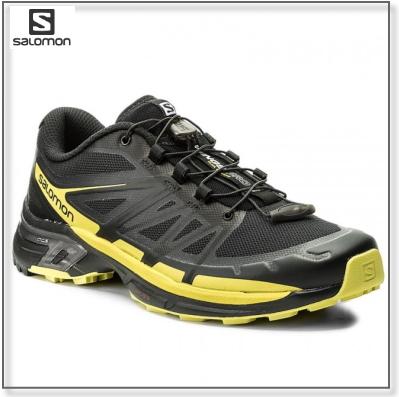 【SALE】サロモン SalomonWINGS PRO 2ウイング・プロ2 Black/Sulphur Springトレイルランニング用