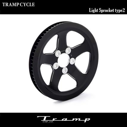 TRAMP CYCLE / トランプサイクル ライト スプロケット2 ブラック XR用 /Light Sprocket Type2 Black SCS-030 送料無料