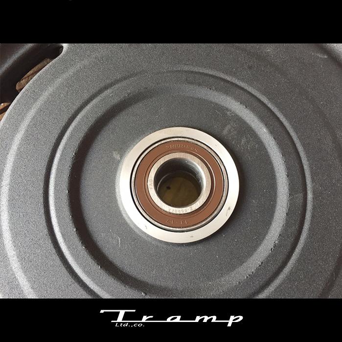TRAMP CYCLE トランプサイクル / リア ダンパー付スプロケット用ベアリング XLモデル(2008~)のスプロケットダンパー付モデル アクスルサイズ25mm ハーレーダビッドソン 社外品HARLEY DAVIDSON TOT-129