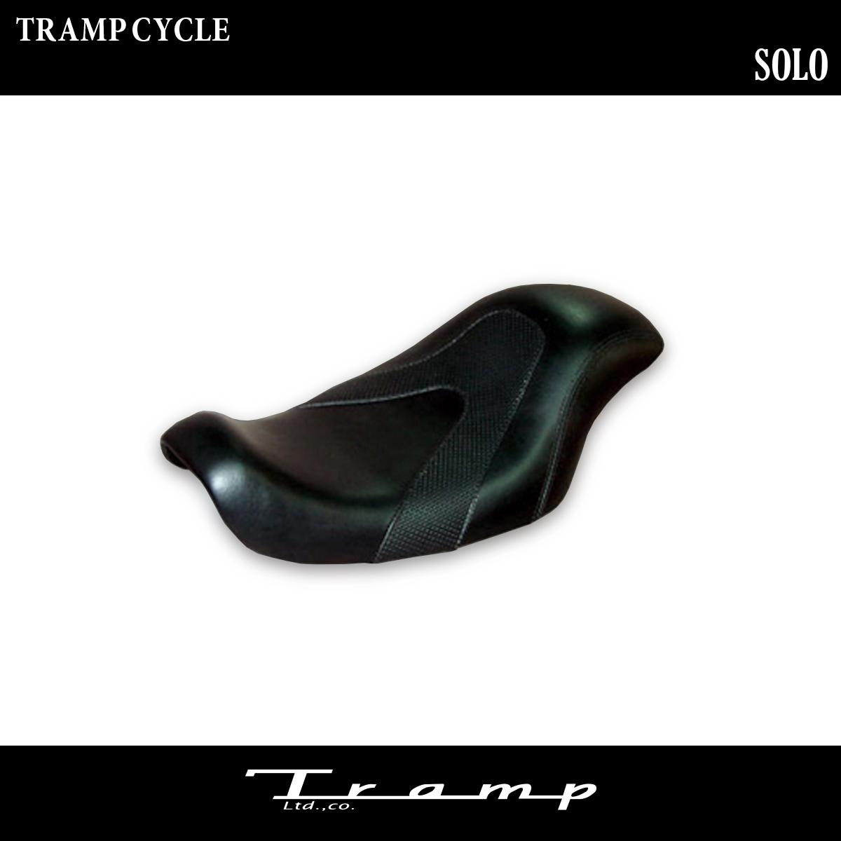 TRAMP CYCLE トランプサイクル / ソロシート (着座位置前) 【TSS-008C】スポーツスター 07~09年 ワイドタンクモデル用 / ハーレーダビッドソン 社外品 HARLEY DAVIDSON 送料無料