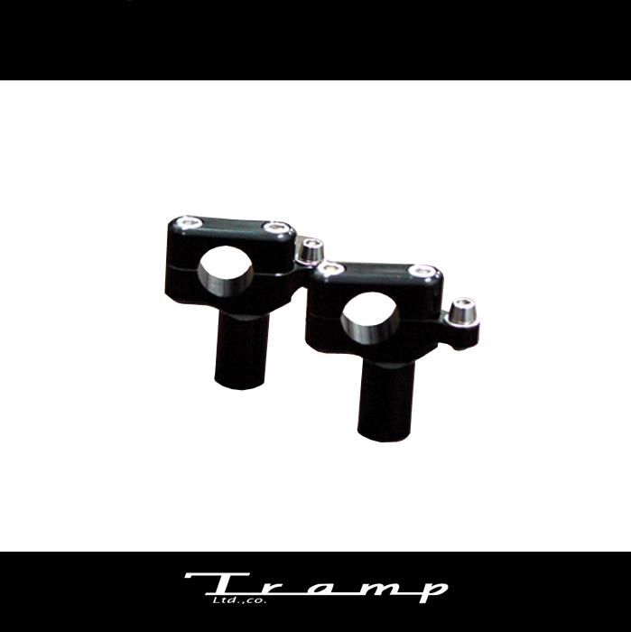 TRAMP CYCLE トランプサイクル / メーターブラケット付オフセットライザー60mm ダイナ用 ブラックタイプ/シルバータイプ ミリバー用 ハーレーダビッドソン 社外品HARLEY DAVIDSON