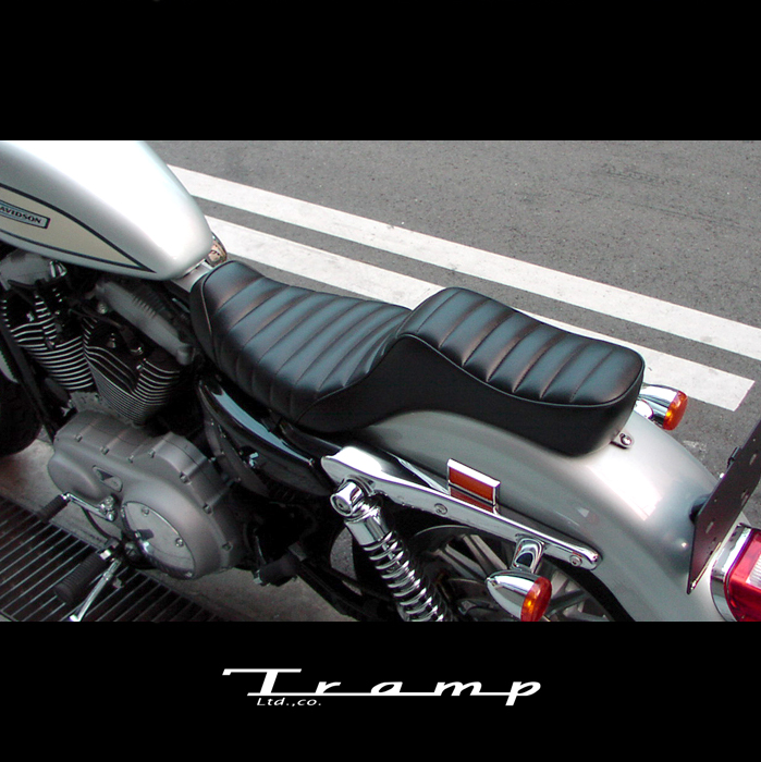 TRAMP CYCLE トランプサイクル / キング&クイーンシート ステッチタイプ 【TSE-005】スポーツスターXL 2004年以降 / ハーレーダビッドソン 社外品 HARLEY DAVIDSON送料無料