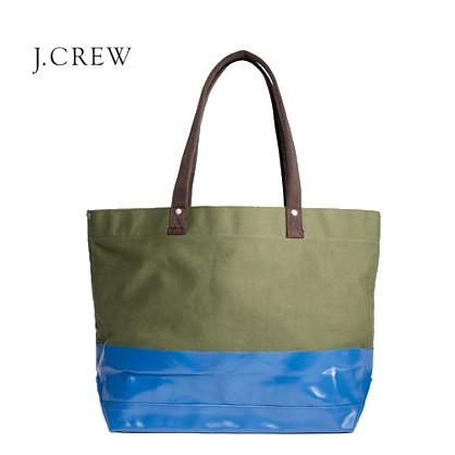 J.CREW カラーブロックキャンバストートバッグ ジェイクルー JCREW