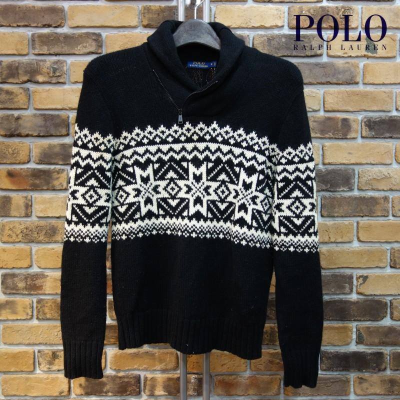 Polo Ralph Lauren ノルディック柄ショールカラーセーター ポロラルフローレン