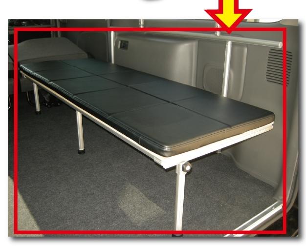 (NV350キャラバン・DX・スーパーロング・左側用) 片面跳ね上げベッド