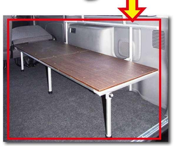 NV350キャラバン用 ベッド 片面跳ね上げボード