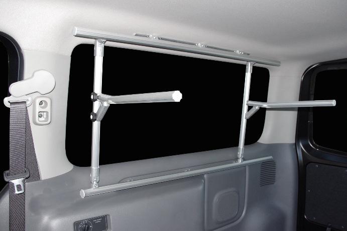 NV350キャラバン用 キャリア 室内キャリア 車内キャリア 収納アイテム ハーフキャリア(別称:ボードラック(片面))