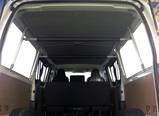 ハイエース/レジアスエース(DXワイドボディ用) キャリア 室内キャリア 車内キャリア 収納アイテム フルキャリア(別称:全面ラック伸縮式)