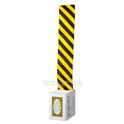 【送料無料】駐車場コーナーガード ガードパットロールタイプ クッション機能付き 200mm×10m×5mm (247090)【衝突/駐車場/標識】
