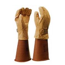 保護皮革手套(在尼龍粘鏈)