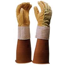【ヨツギ】 保護革手袋(甲部 メッシュ付) 【耐電/電気作業】