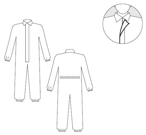防护服装 / 防护衣特卫强软件我键入 (特卫强防护服 1 TV1 型)