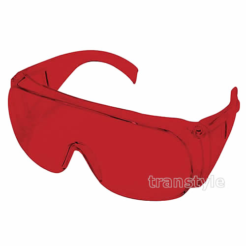 【送料無料】レーザー用メガネ RS-02 ヤグ2倍波用 レッドレンズ 光学濃度OD3以上 【保護メガネ/波長/ガス/遮光】