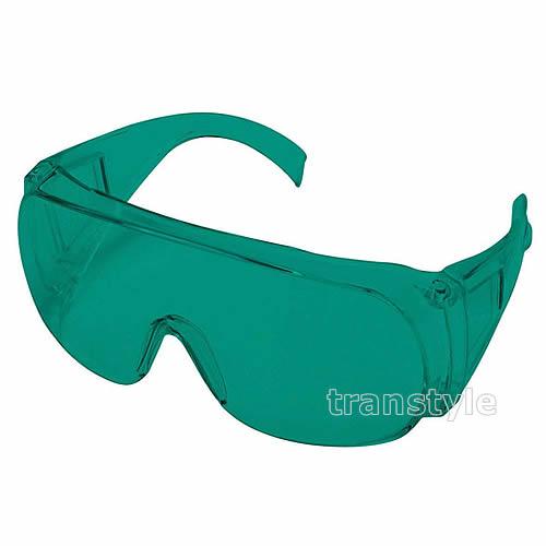 【送料無料】レーザー用メガネ RS-02 ヘリウムネオン用 青緑レンズ 光学濃度OD5以上 【保護メガネ/波長/ガス/遮光】