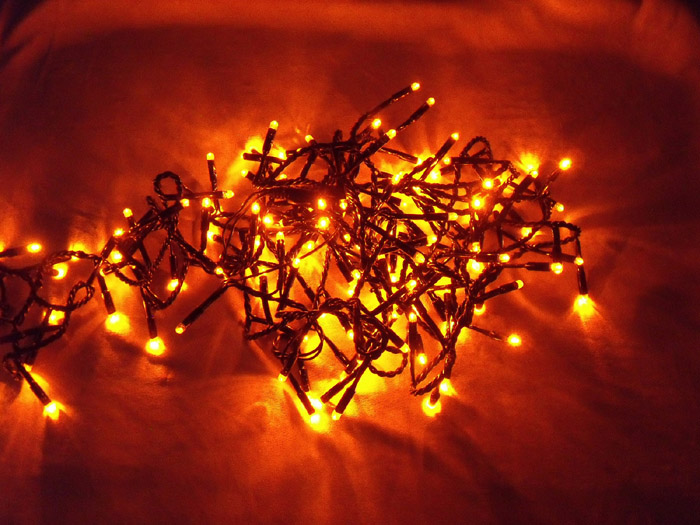 LEDスターライト 好評受付中 おすすめ特集 150球 オレンジ 7.5m
